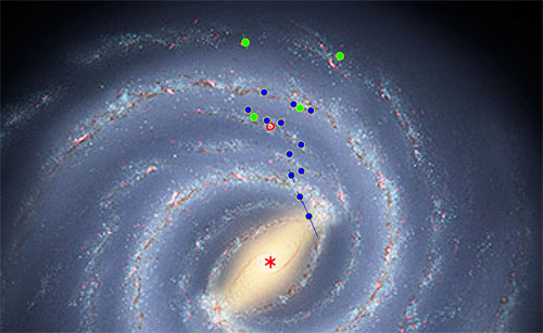 Bild: Robert Hurt, IPAC; Mark Reid, CfA, NRAO/AUI/NSF