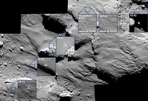 Bild: ESA/Rosetta/MPS for OSIRIS Team MPS/UPD/LAM/IAA/SSO/INTA/UPM/DASP/IDA