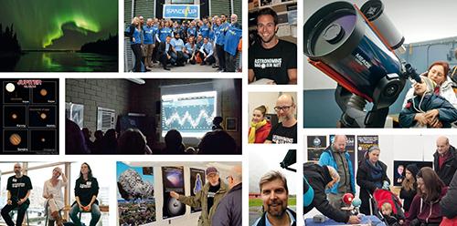 Foton: Ulf Jonsson, SpaceUp Sweden, Slottsskogsobservatoriet, ASTB, Vialundskolan, Cosmonova, Christian Vestergaard, Örebro Astronomi, R. Cumming