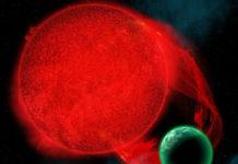Proxima b som biofluorescerande värld.