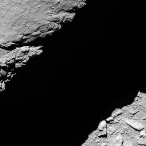 Bild: ESA. 1,2 km ovanför kometytan.