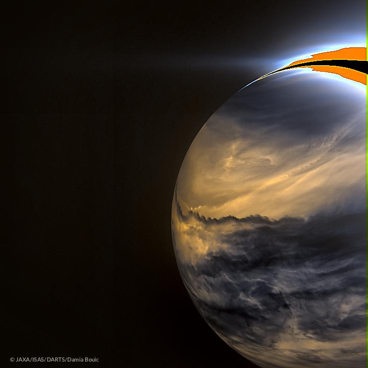 Venus nattsida i infrarött