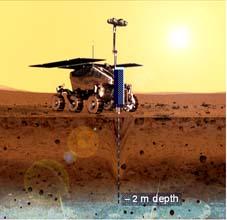 ESAs ExoMars-landare, som den skulle kunna se ut när den kommer fram till Mars år 2013. (Bild: ESA)