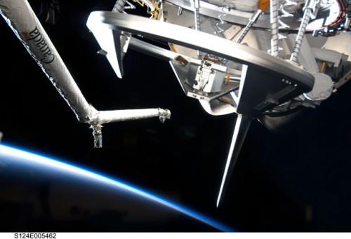 ISS och Jorden