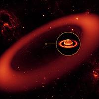 Saturnus infraröda ring