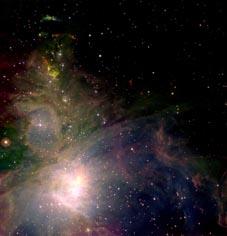 Orionnebulosan, Bild: UKIRT