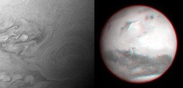 Bild: NASA/JHU/SWRI (Jupiter),  ESA/MPS/OSIRIS (Mars)