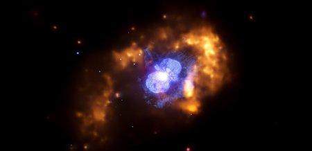 Bild: NASA/CXC/GSFC/M.Corcoran et al.; NASA/STScI
