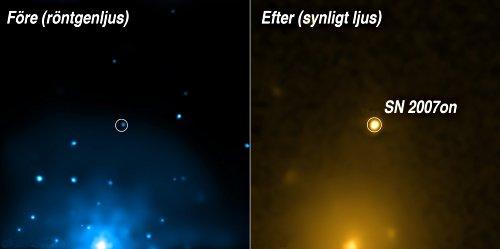 Bild: NASA/CXC/MPE/R. Voss et al.; Optical: NASA/Swift