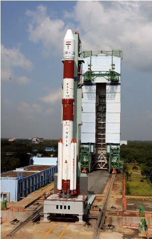 Indien skot upp raket mot mars