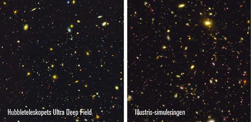 Bilder: NASA/ESA; Illustris