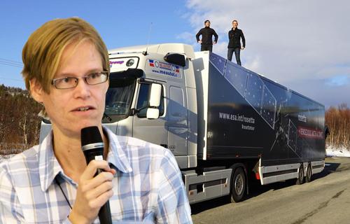 Montage. Foton: Haukur Sigurdarson (Gabriella) och ESA (bussen)