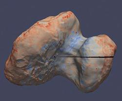 Bild: F. Capaccioni m fl; ESA/Rosetta/MPS for OSIRIS Team MPS/UPD/LAM/IAA/SSO/INTA/UPM/DASP/IDA