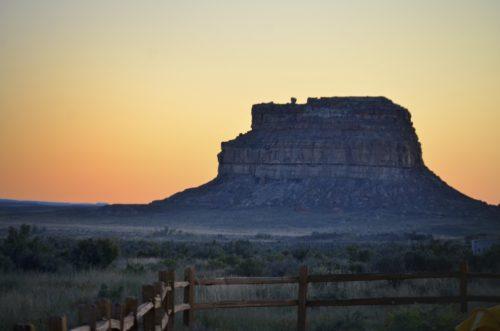 Fajada Butte i soluppgången