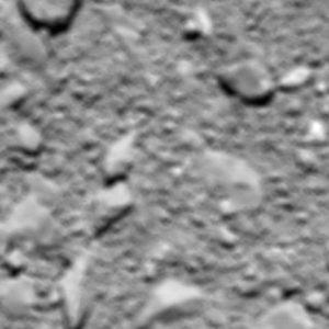 Bild: ESA. Osiris sista foto, 51 meters höjd.