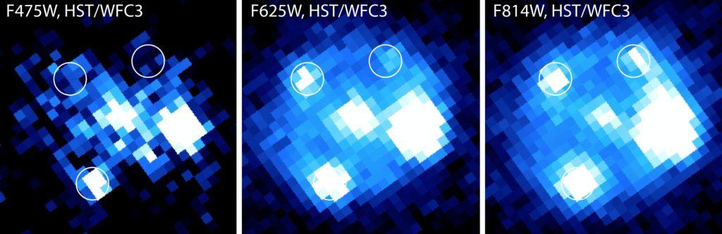 iPTF16geu fotograferad av rymdteleskopet Hubble 25 oktober 2016. Bild: Ariel Goobar & medarbetare (arXiv:1611.00014)