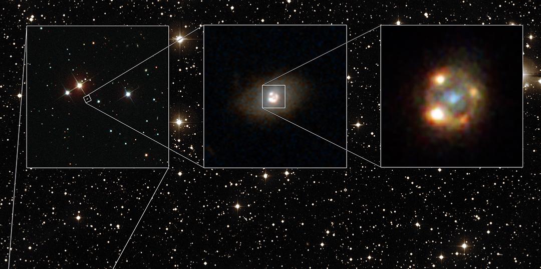 Bild: ESA/Hubble, NASA, Sloan Digital Sky Survey, Palomar Observatory/California Institute of Technology