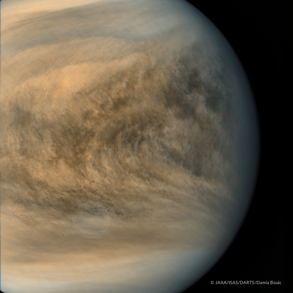 Venus ekvatorialområde i ultraviolett