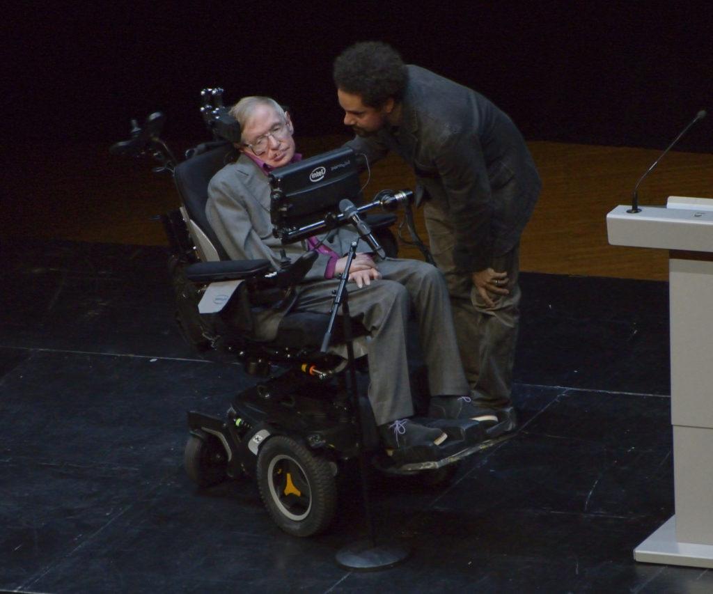 Stephen Hawking under hans besök i Stockholm