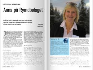 Anna Davour intervjuade Anna Rathsman för Populär Astronomi. Klicka för att läsa artikeln. (Foto: Ulf Jonsson)