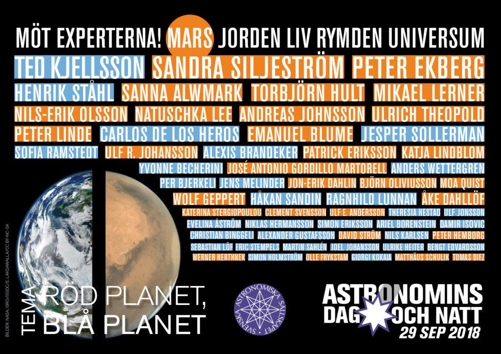 Astronomer, entusiaster, experter: medverkande på Astronomins dag och natt 2018