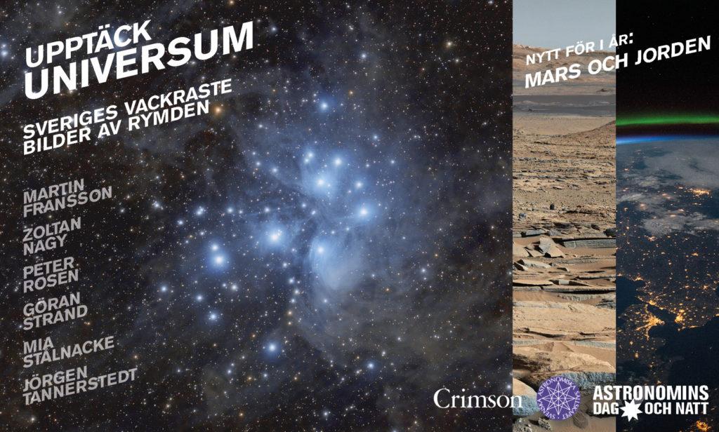 Foton: Plejaderna av Martin Fransson; Mars enligt Curiosity (NASA/JPL-Caltech/MSSS); jorden från rymdstationen av astronaut Terry Virts (NASA)
