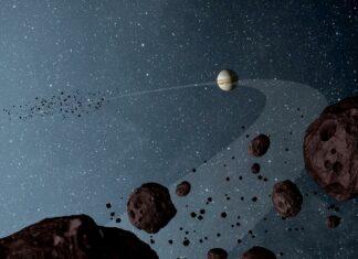Jupiters följeslagare enligt NASA:s rymdkonstnär NASA/JPL-Caltech