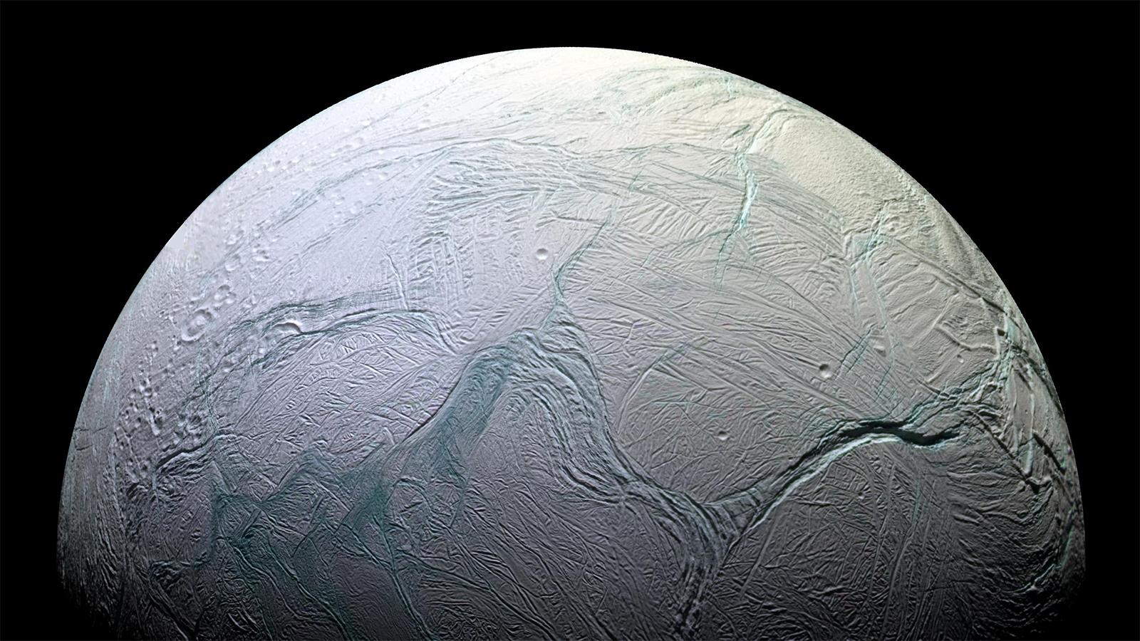 Enceladus. Bild: NASA/JPL-Caltech