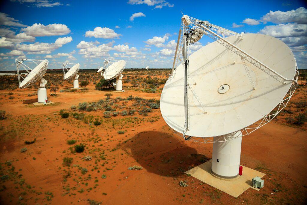 Radioteleskopet ASKAP. Bild: CSIRO