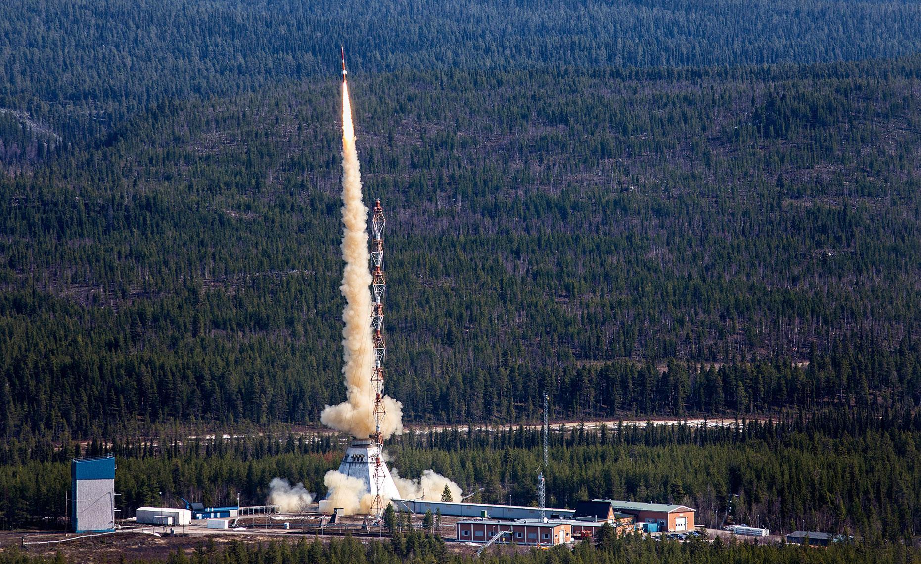 Raketuppskjutning vid ESRANGE. Bild: Fredric Alm