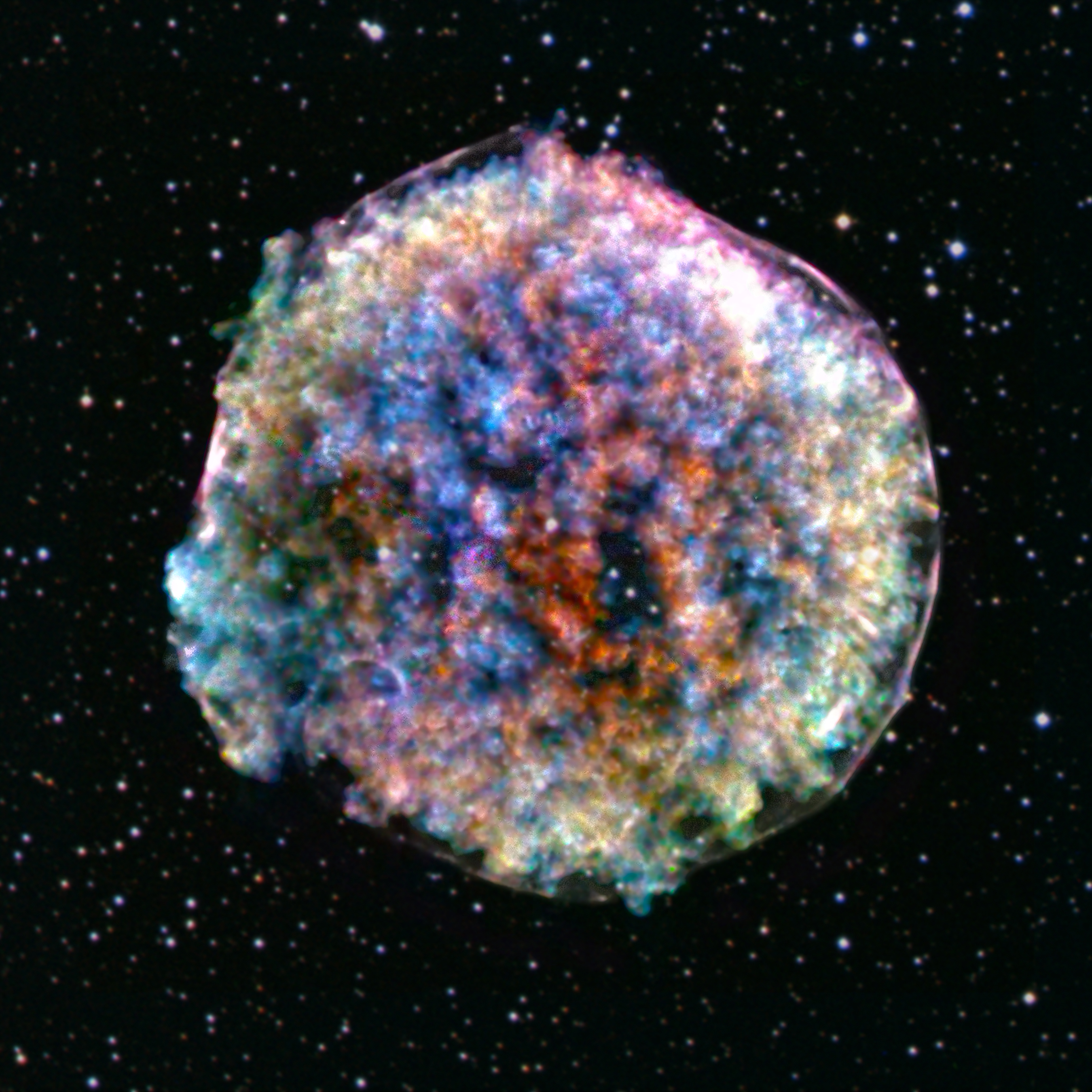 Bild: X-ray: NASA/CXC/RIKEN & GSFC/T. Sato et al; Optical: DSS