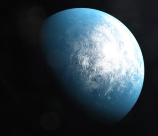 Konstnärs illustration av TOI-700 d. Bild: NASA's Goddard Space Flight Center