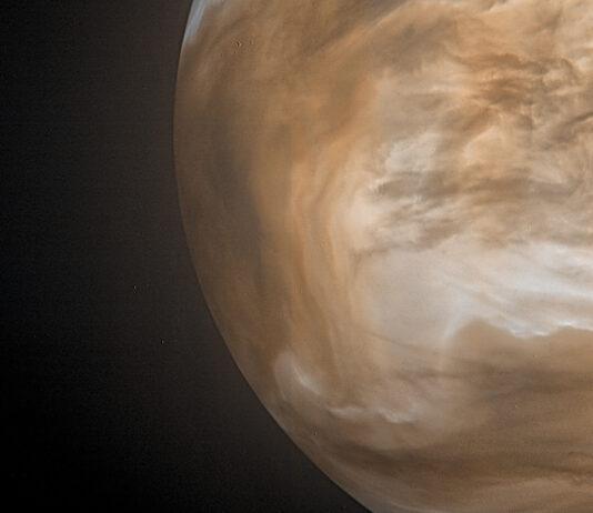 Venus i infrarött ljus. JAXA / ISAS / DARTS / Damia Bouic