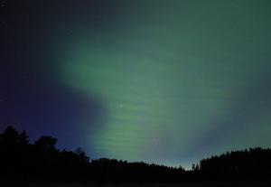 nya norrskenet i en bild av Pirjo Koski från Finlands rapportsajt Taivaanvahti. Foto: © Pirjo Koski