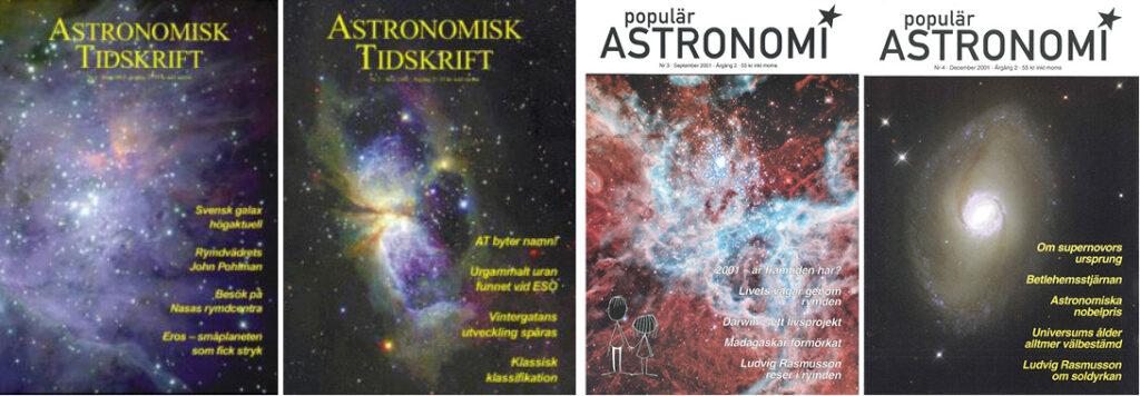 Astronomisk tidskrift och Populär Astronomi 2001