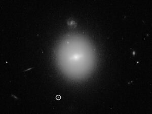 Värdgalax för medeltungt svart hål (NASA, ESA & D. Lin)
