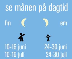Se månen dagtid sommaren 2020 Grafik: Populär Astronomi