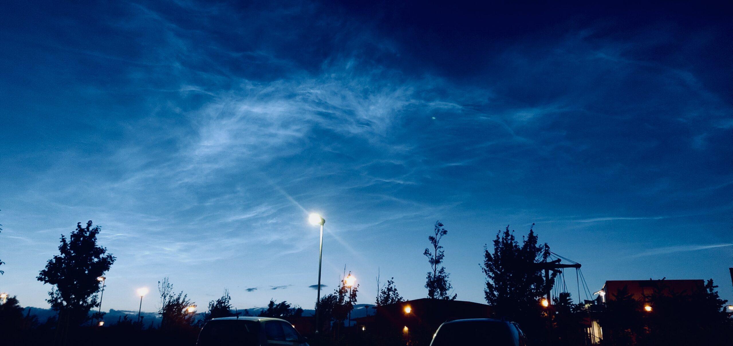 Nattlysande moln. Bild: privat, Rebecca Forsberg